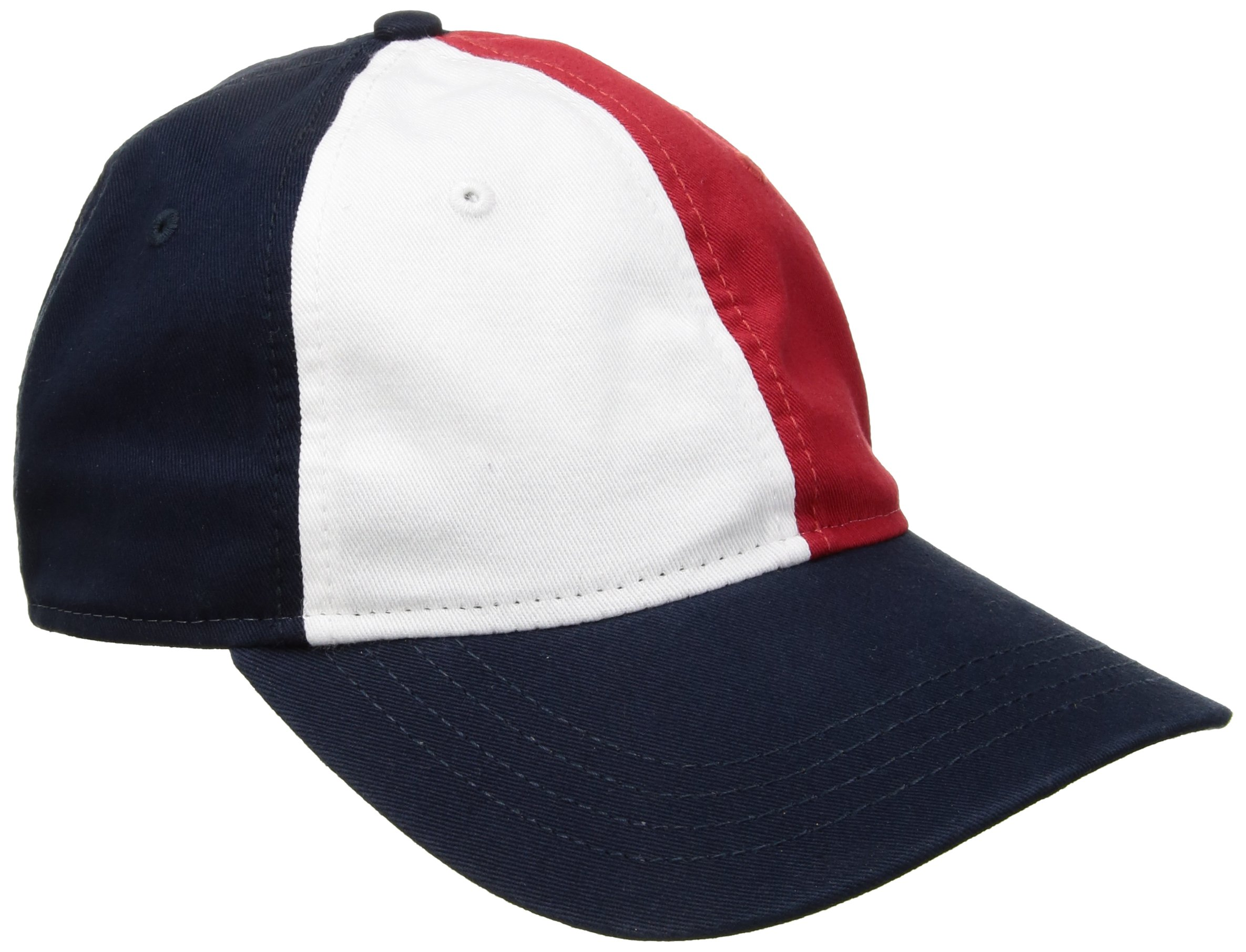 Tommy Hilfiger Men's Gary Colorblocked Flag Baseball Dad Cap, Navy Blazer/Multi, One Size
