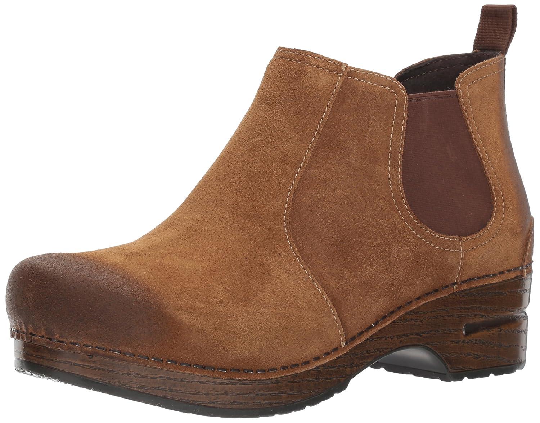 Dansko Women's Frankie Ankle Bootie B01MZ4LAJ2 37 EU/6.5-7 M US|Brown Burnished Suede