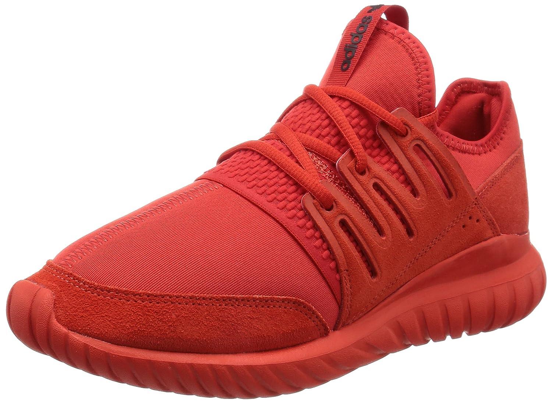 Adidas Tubular Radial, Zapatillas de Gimnasia para Hombre 44 EU|Rosso (Red/Red/Cblack)