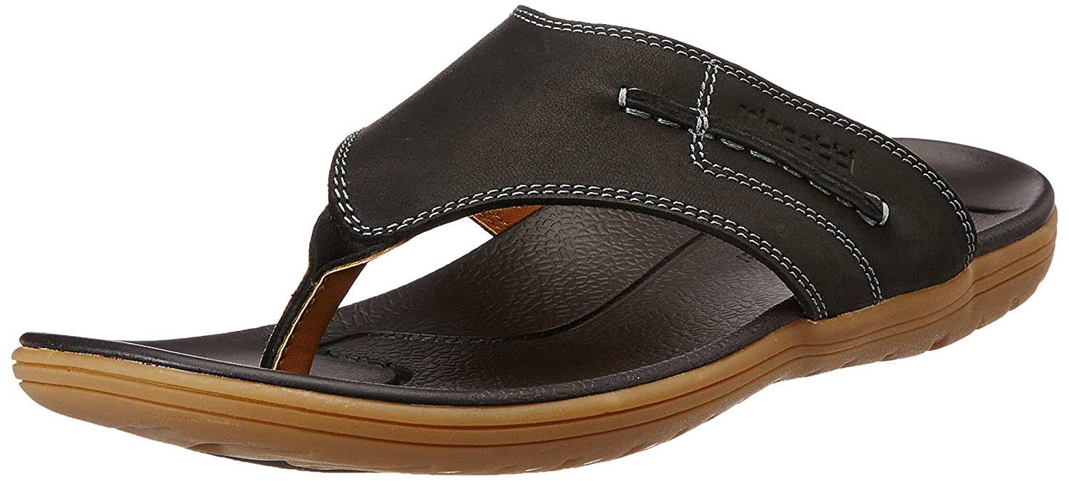 89ed06a0fd6 Miraatti Men s Black leather Sandals and Floaters - 11 UK (5003-10)  Buy  Online at Low Prices in India - Amazon.in