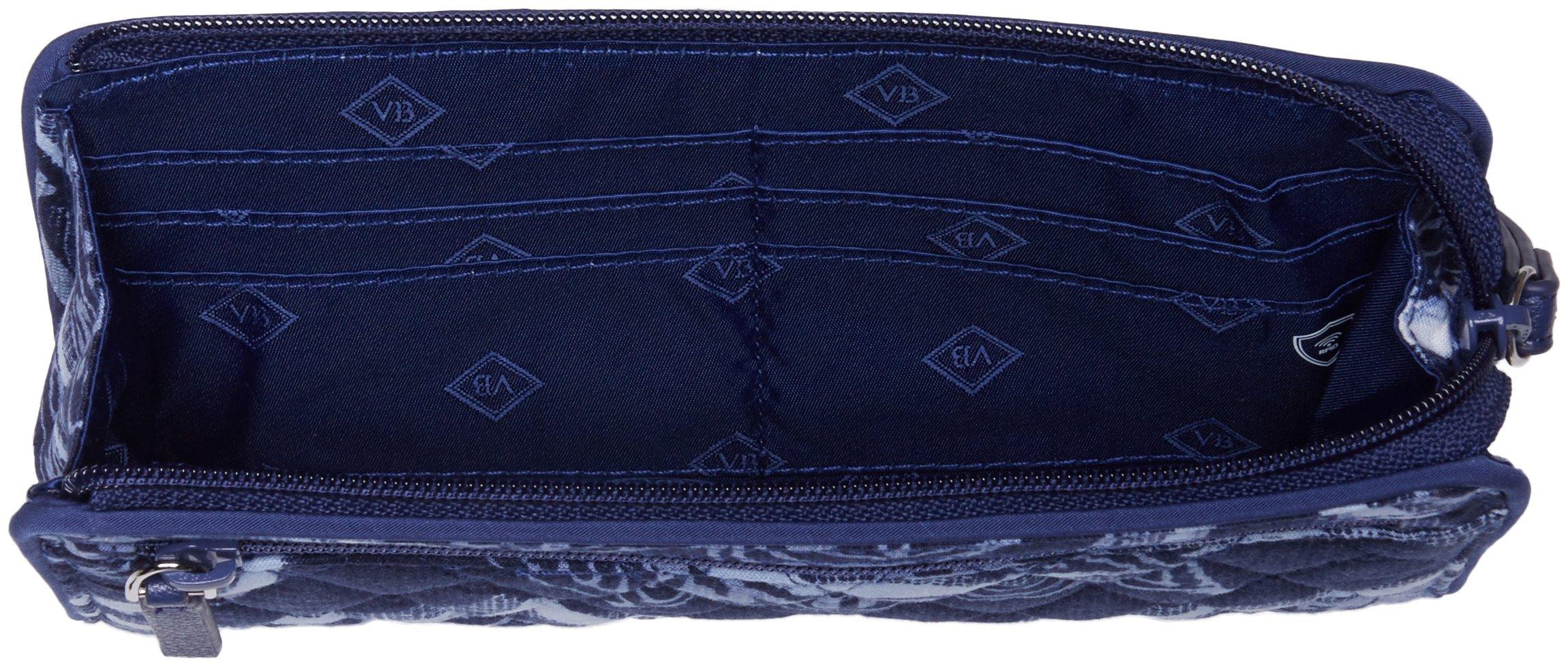 Vera Bradley Rfid Front Zip Wristlet, Signature Cotton,One Size,Indigo by Vera Bradley (Image #4)