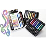 Crayola Signature Blending markers, Perfect for Blending, 14 Brilliant Colours, 2 Colourless Blenders, Great for Artists, Students, Teens and Adults, Makes a Great gift, Assorted, 16 (58 6502)