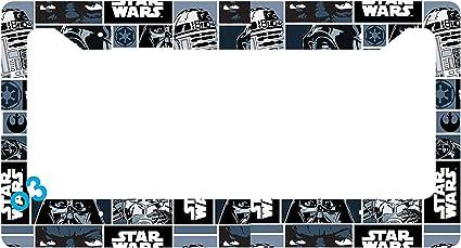 Star Wars Darth Vader Comic Strip Collage License Plate Frame Alumminum Car  Auto (E)