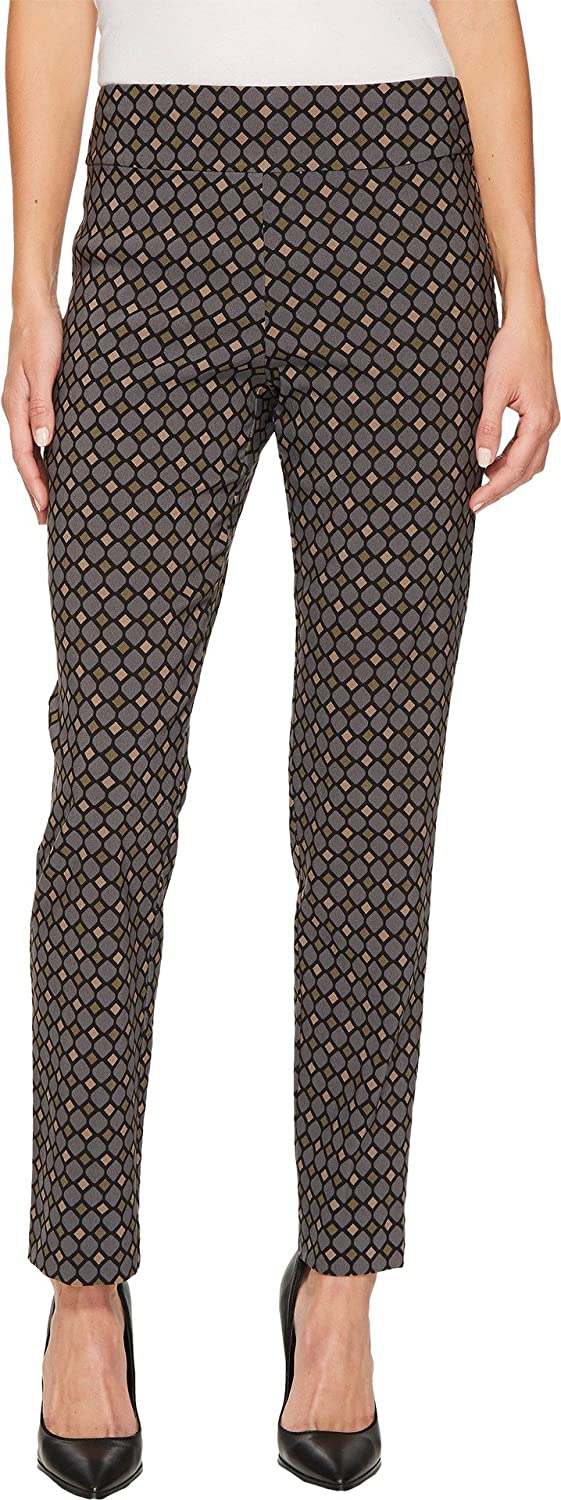Black Multi Diamonds Krazy Larry Women's Pull On Ankle Pant