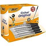 BiC Cristal Original 1.0 毫米圆珠笔 可重新填充 Pack of 90 + 10 Free 黑色