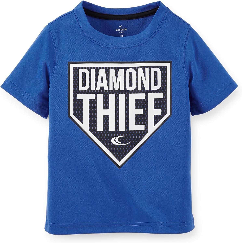 Apparel Royal Blue 2t Carters Boys Diamond Thief Athletic Tee