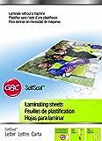 Swingline GBC SelfSeal Self Adhesive Laminating Sheet, Letter Size, Glossy, 3 Mil, 10 Pack (3747308)