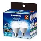パナソニック LED電球 口金直径17mm 電球40W形相当 昼光色相当(4.0W) 小形電球・広配光タイプ 2個入 密閉器具対応 LDA4DGE17ESW2T
