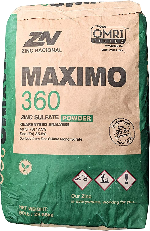 Zinc Sulfate Powder 35.5% Monohydrate Plus 16.5% Sulfur