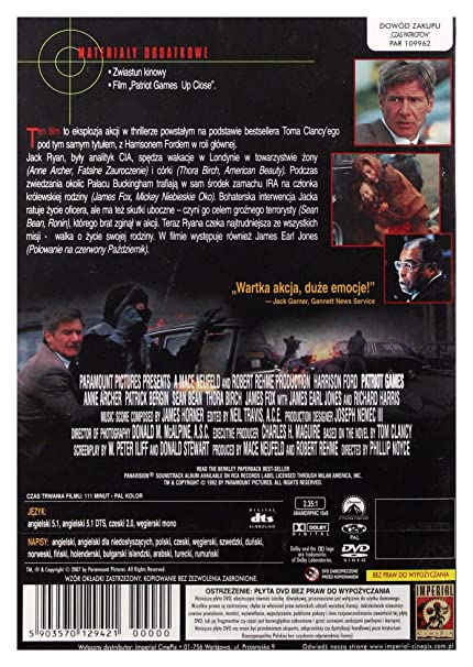 Patriot Games (IMPORT) (Keine deutsche Version):