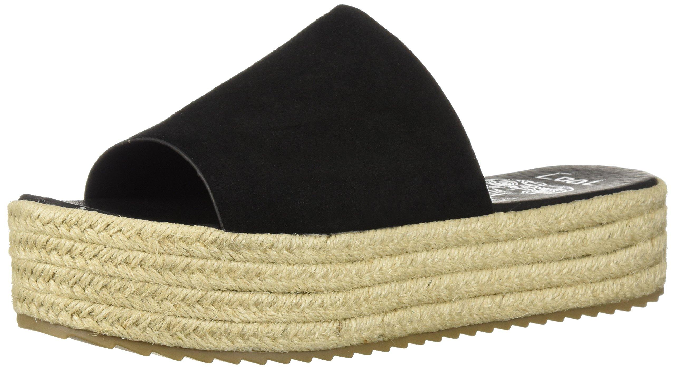Coolway Women's BORY Espadrille Wedge Sandal, Black, 38 Medium EU (7-7.5 US)