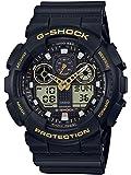 Casio Men's Japanese Quartz Watch with Silicone Strap, Black, 28 (Model: GA-100GBX-1A9)