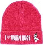 Disney Frozen Olaf I Love Warm Hugs Pink Chapeau De Bonnet Hat