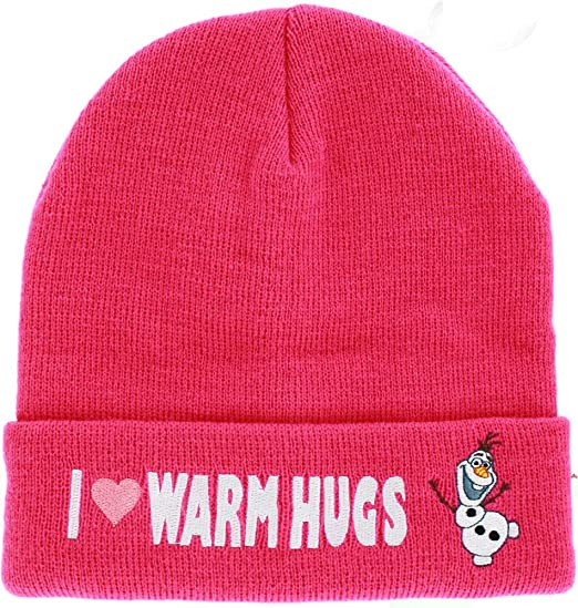 ee7f707195883 Image Unavailable. Image not available for. Color  Frozen Olaf I love warm  hugs Beanie