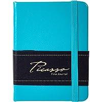 Desk TECH, Picasso Notebooks 80-Sheet Ruled 80gsm Small Fine Journal, 3 x 4 inches, Aqua Blue