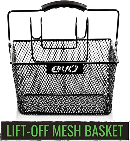 Detachable Front Wire Mesh Lift Off Bicycle Basket Weather Proof Hold Small Item