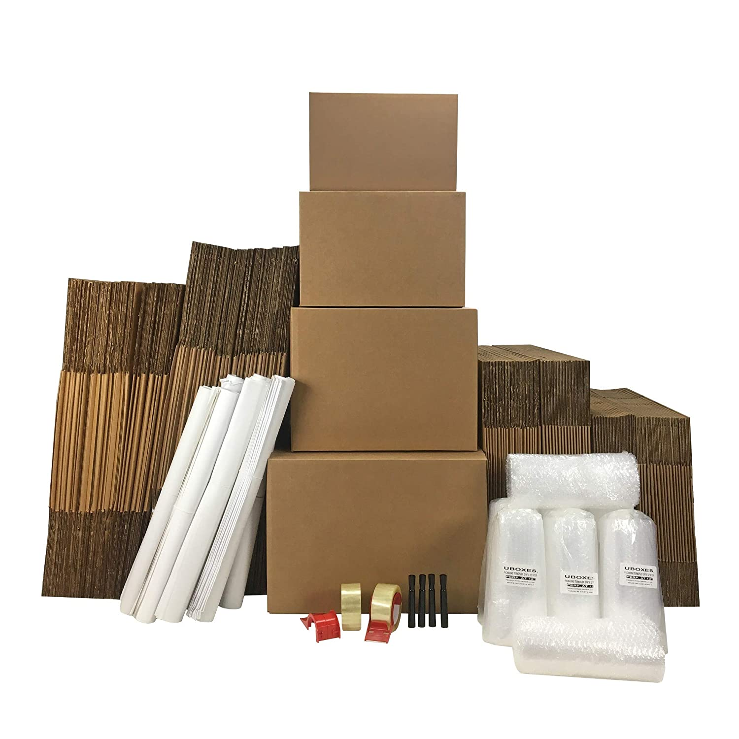 Image of 8 Room Basic Moving Kit 113 Boxes & $128 in Packing Supplies. Home and Kitchen