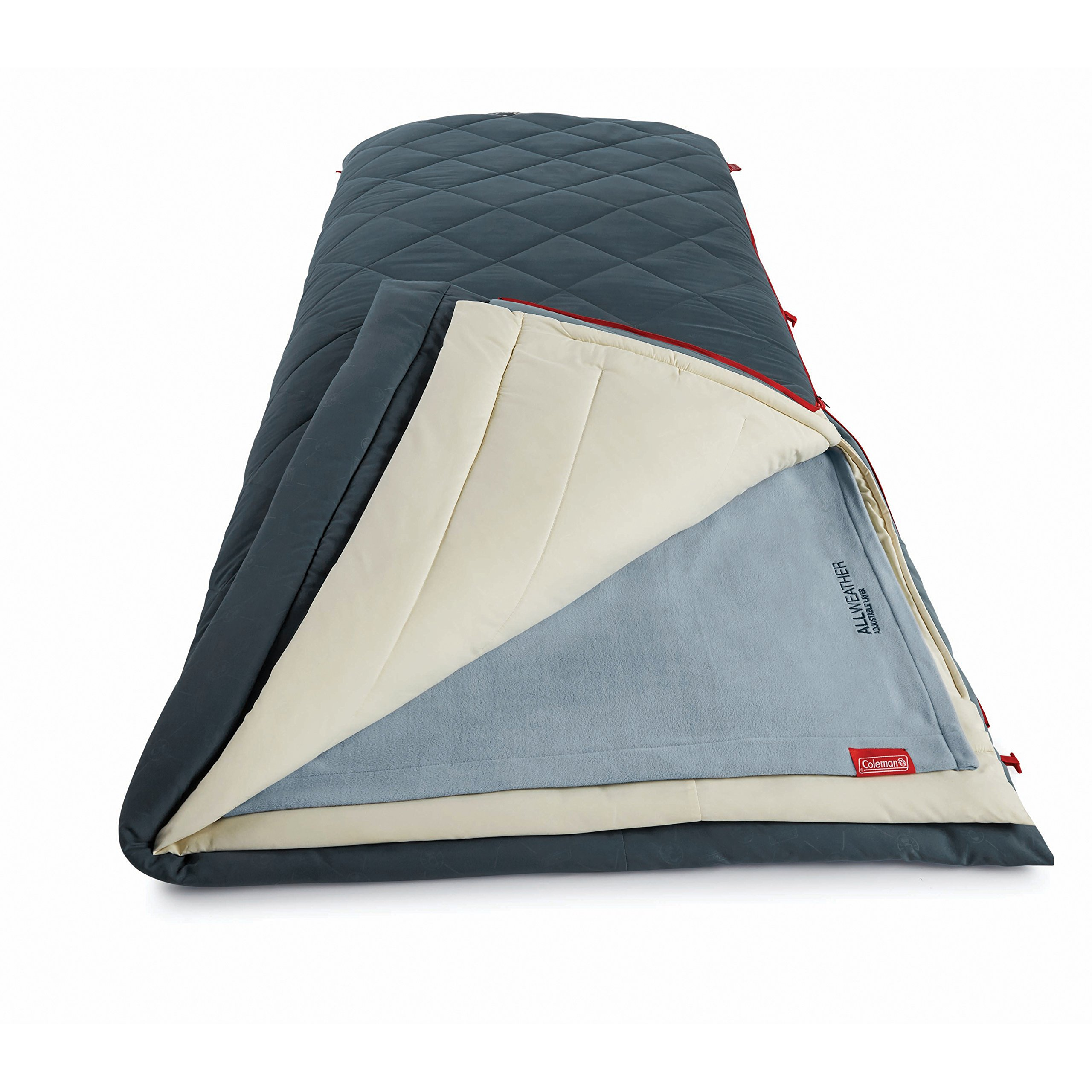 Coleman All-Weather Multi-Layer Sleeping Bag, Blue by Coleman