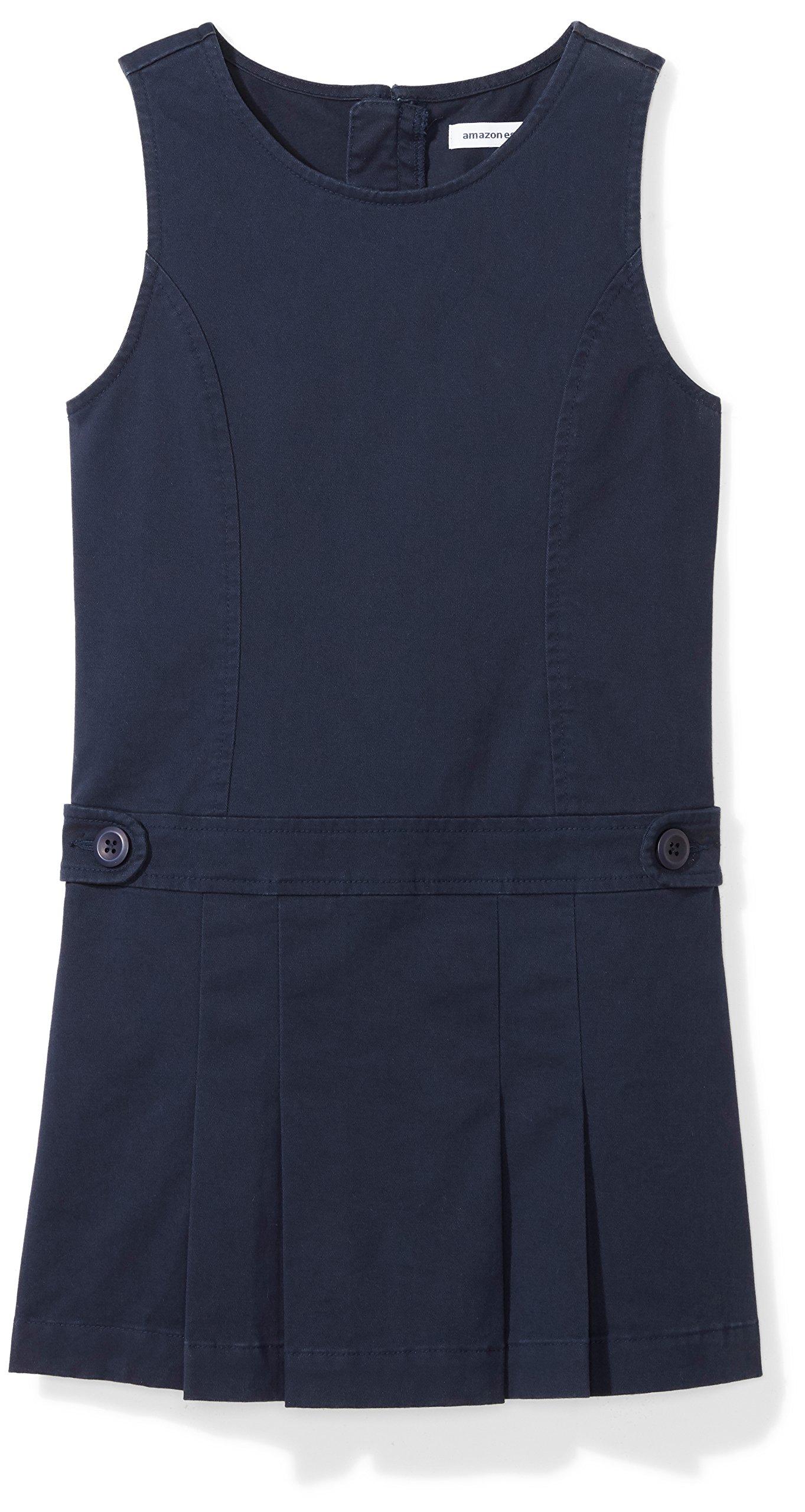 Amazon Essentials Girls' Uniform Jumper, Navy Blazer, M (8)