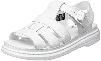 Carolyn II, Sandales Bout Ouvert Femme, Blanc (White 100), 41 EUDr. Martens