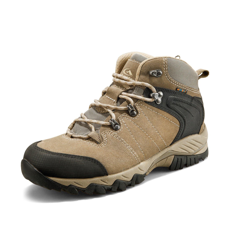 Clorts Men's Waterproof Hiking Boot Outdoor Backpacking Hiker Brown HKM-822G US9.5