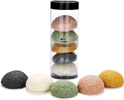 100/% naturale Gaia Spugna Konjac naturale viso perch/é completamente biodegradabile 2 x confezione vegana sostenibile - spugnetta di pulizia per tutti i tipi di pelle