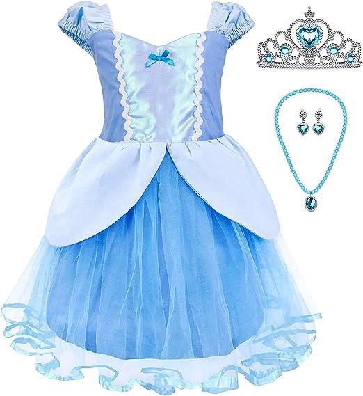 Amazon.com: Disfraz para bebé niña, de Princesa, Cenicienta ...