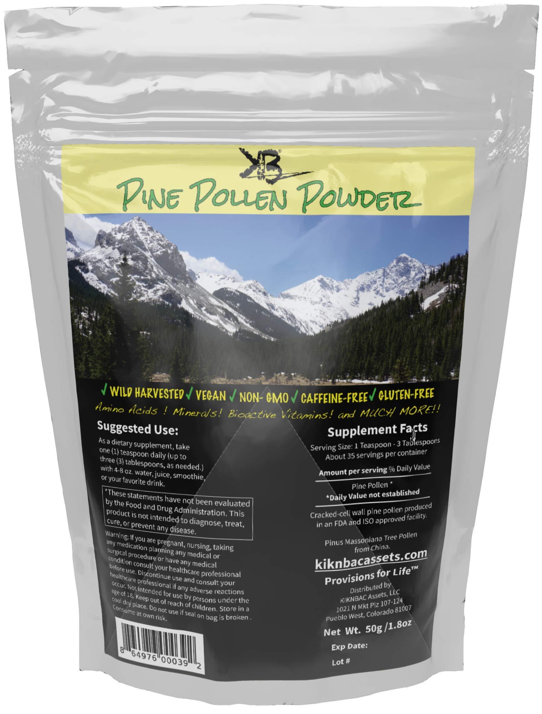 Amazon Com Pure Raw Organic Broken Cell Wall Pine Pollen