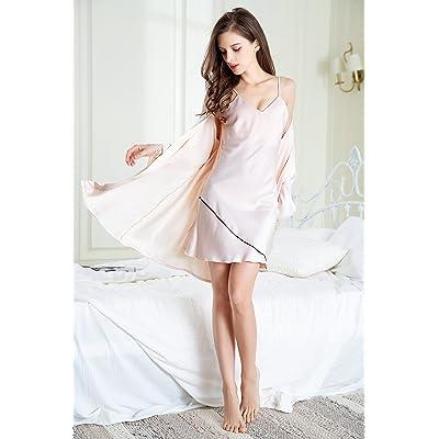 91a5c2967 Wanglele Eslinga De Mujer Invierno Camisón De Pijama Dos Piezas De Hielo  Estilo Princesa De Encaje De Seda Fina Adulto