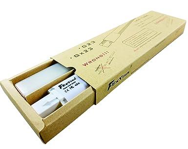 FExYinz Pack de 2 bombillas LED G23 de doble cara de 8 W luz blanca cálida