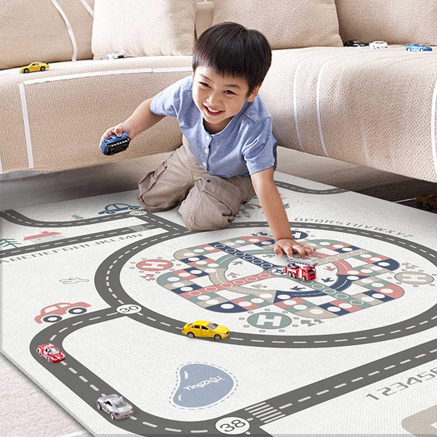 Baby Play Mat Nonslip Baby Crawling Mat Foam Playmat Large Soft Baby Mat Extra Thick BPA Free Non-Toxic 100 Safe Odourless for Toddler Kids 200/×180cm