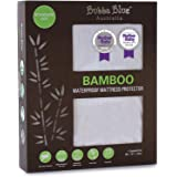 Bubba Blue Bamboo Standard Cot Waterproof Mattress Protector Pad Bedding Cover Machine Wash Hygienic