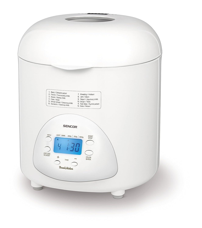 Sencor SBR 1031WH - Panificadora doméstica totalmente automática, 12 programas de cocción, 1 hoja de amasado: Amazon.es: Hogar