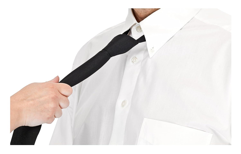 Verstellbare Krawatte vorgebunden mit Gummizug Security Schlips schwarz Binder
