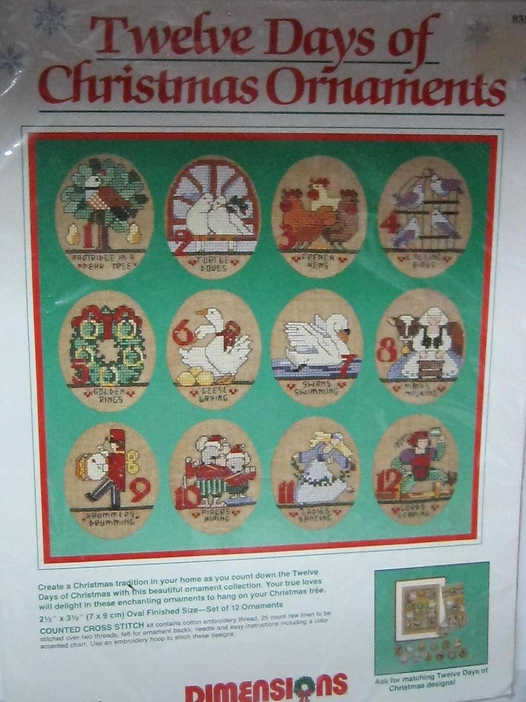 Twelve Days Of Christmas Felt Ornaments.Amazon Com Dimensions 12 Days Of Christmas Ornaments