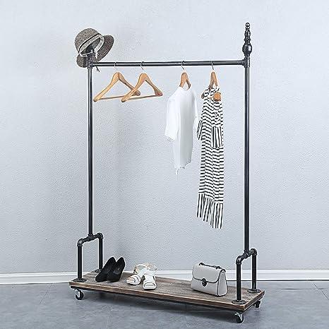 industrial clothing rack rustic clothing rack
