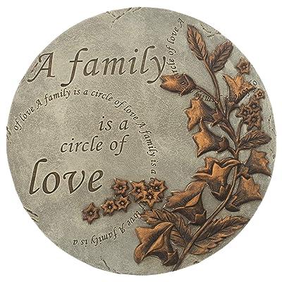 Home & Garden Family is A Circle of Love Stone Polyresin Spring Summer 11849 : Garden & Outdoor