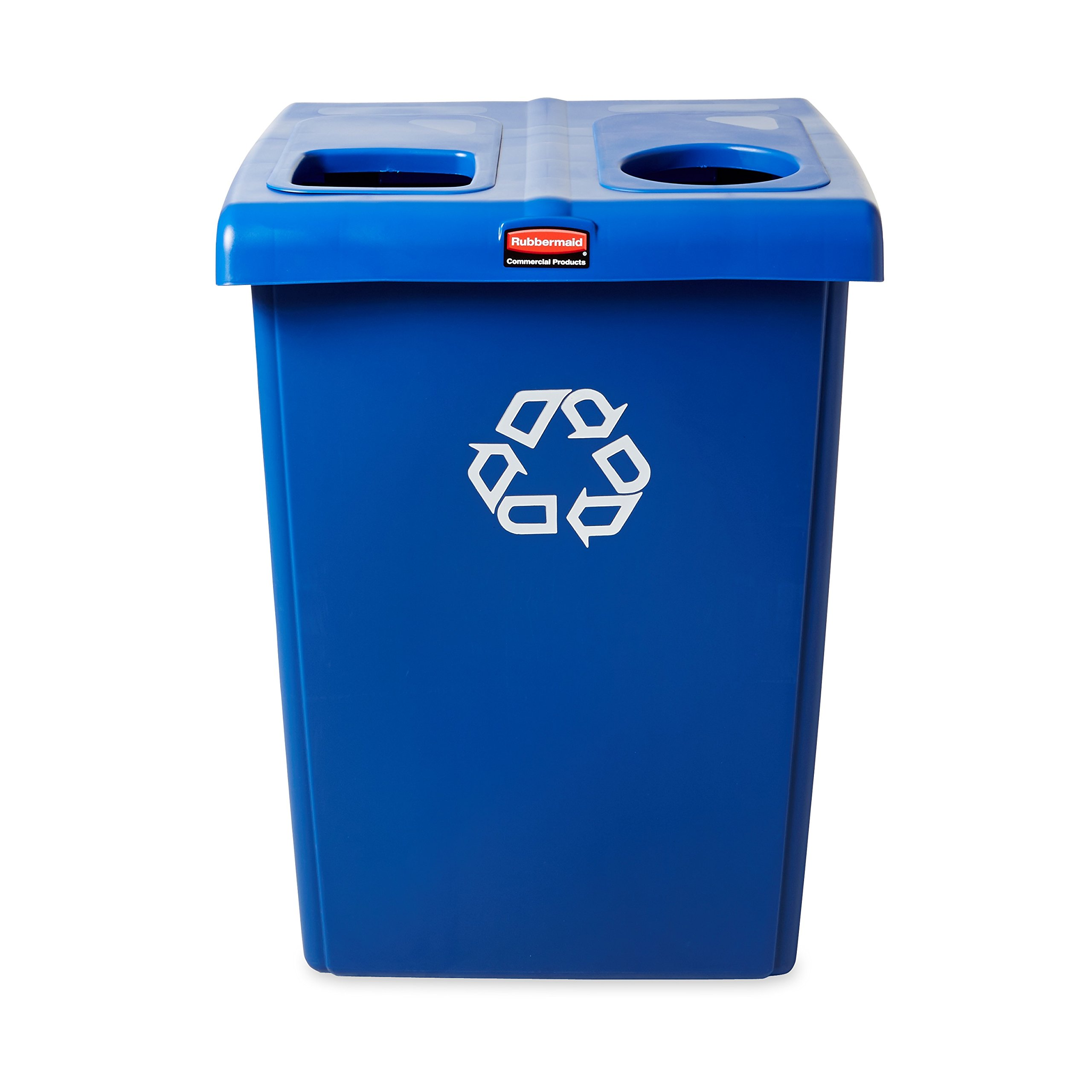 Rubbermaid Commercial 1792339 Glutton Recycling Station, 2-Stream, 46-Gallon, Blue by Rubbermaid Commercial Products (Image #3)