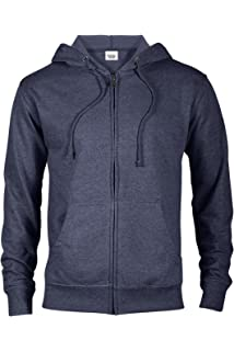 2a6d61eba Casual Garb Hoodies for Men Lightweight Fitted Heather French Terry Full Zip  Hoodie Hooded Sweatshirt