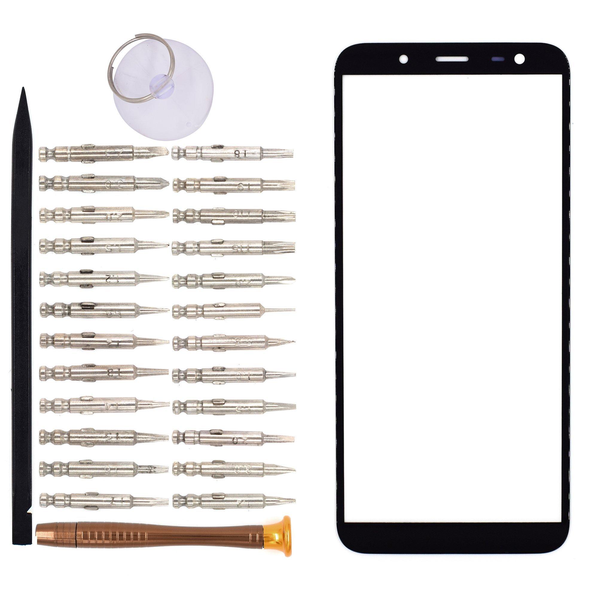 Vidrio Frente para Samsung Galaxy J6 negro [GOODYITOU]