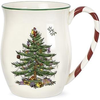 Amazon Com Spode Christmas Tree Candy Cane Mugs Set Of