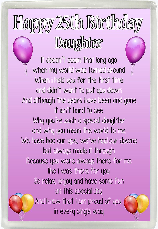 ALL AGES SPECIAL KEEPSAKE GIFT //PRESENT FRIDGE MAGNET DAUGHTER BIRTHDAY POEM