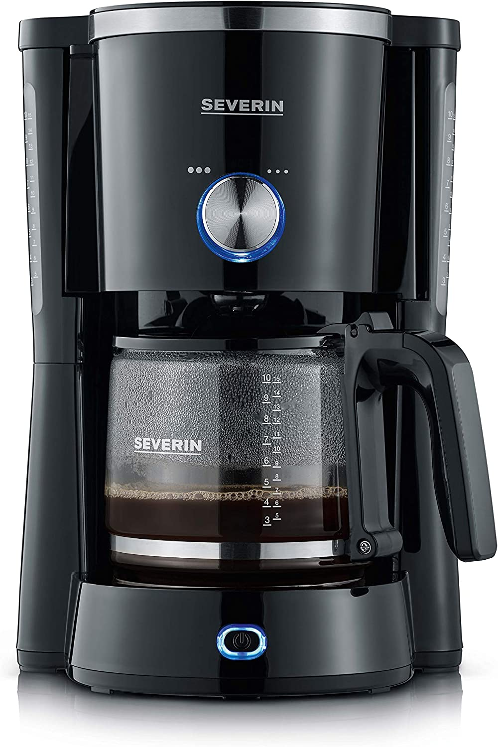 Severin KA 4820 Cafetera TypeSwitch, 1000 W, 1.25 L, Negro: Amazon ...