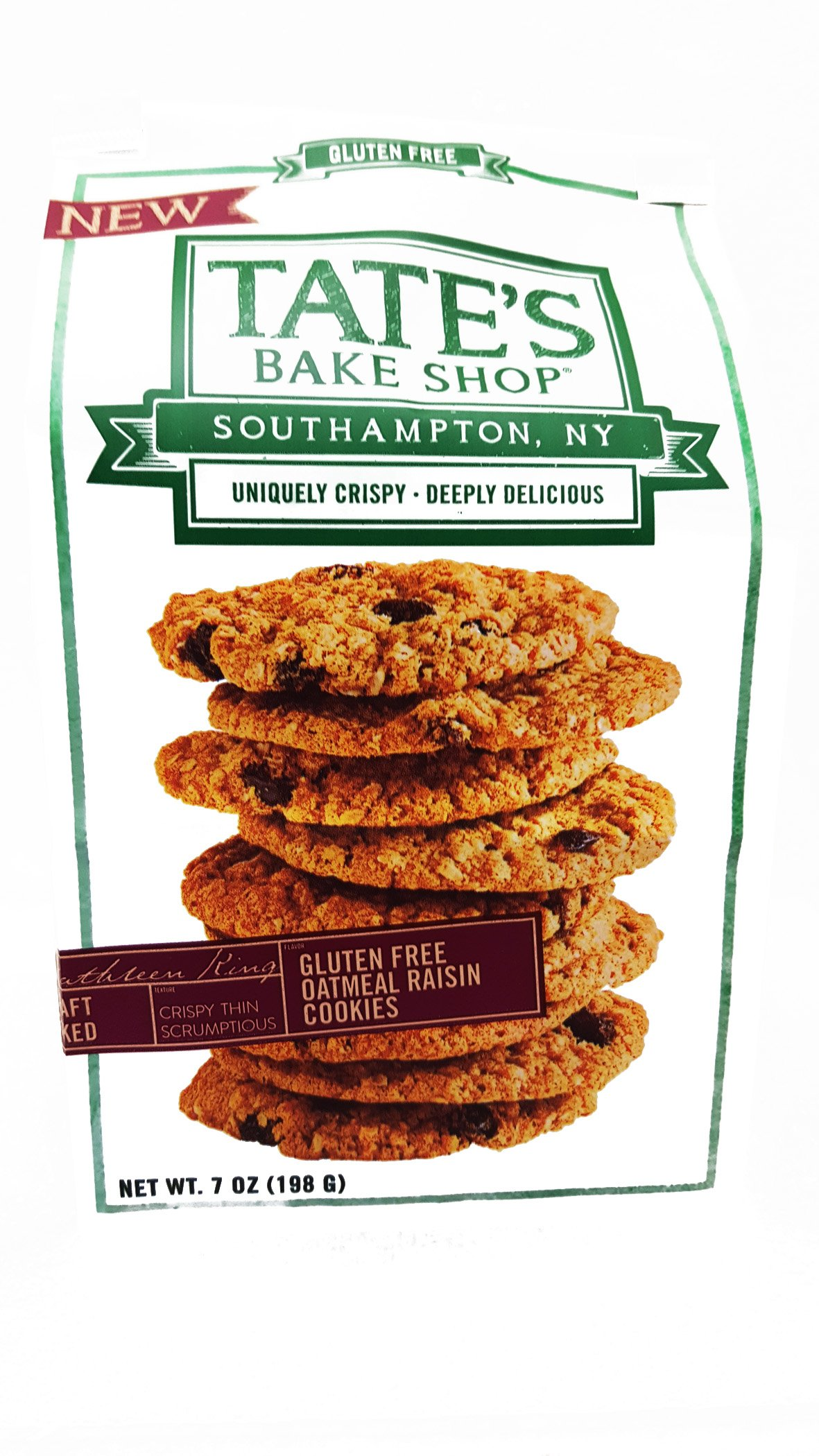Tate's Bake Shop Gluten Free Oatmeal Raisin Cookies, 12 Count (Pack of 12)