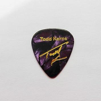 Todd Kerns Age Of signaturestamped Plectro Púas Guitarra Séries ...