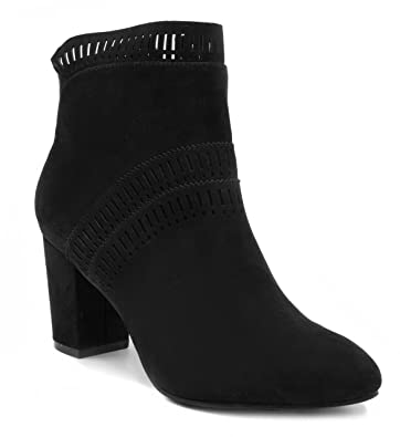 Womens Iverna Heeled Perf Ankle Bootie