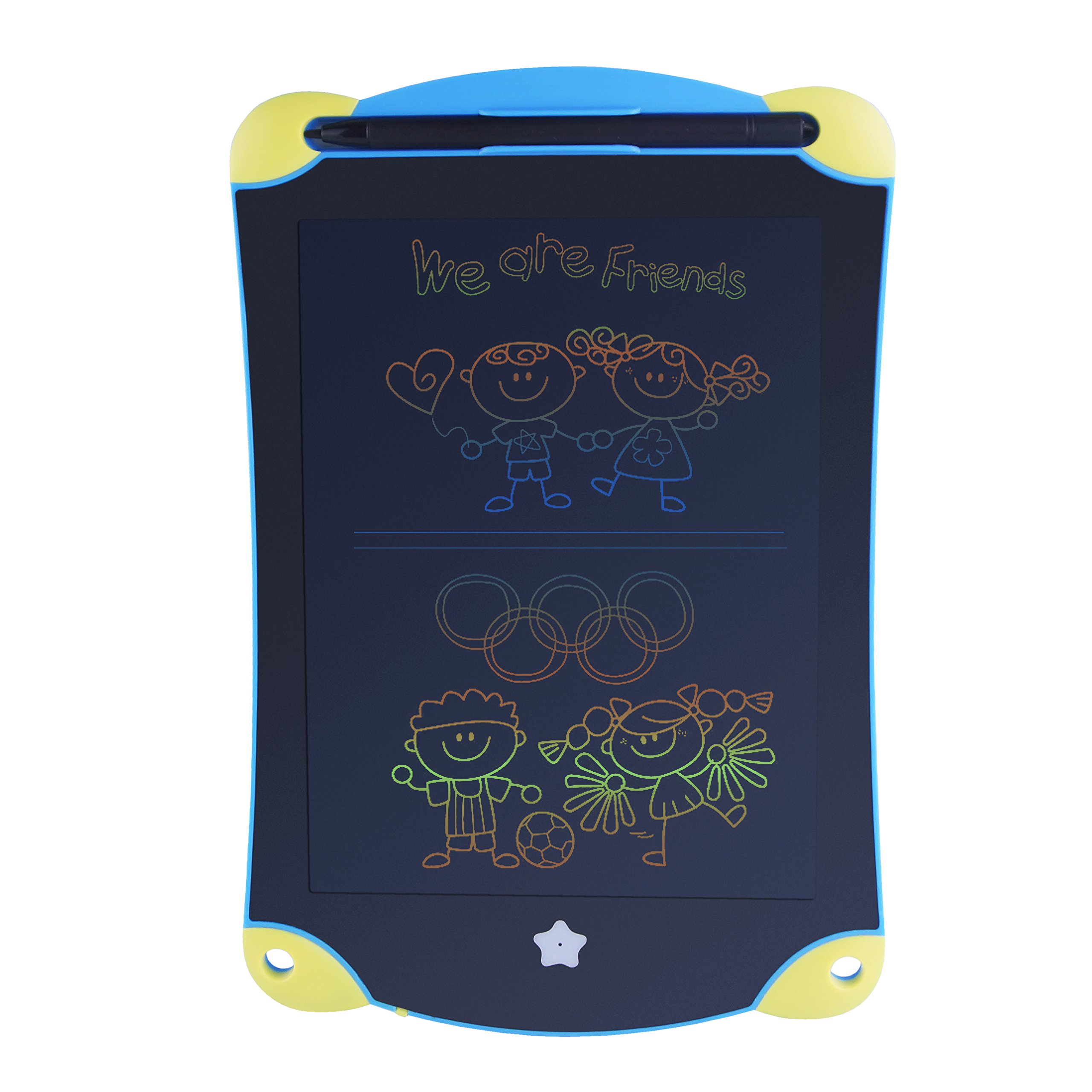 Glolux Colorful LCD Writing Board Doodle Board Pad For Kid Learning (8.5 Inch, Yellow-Blue) by Glolux