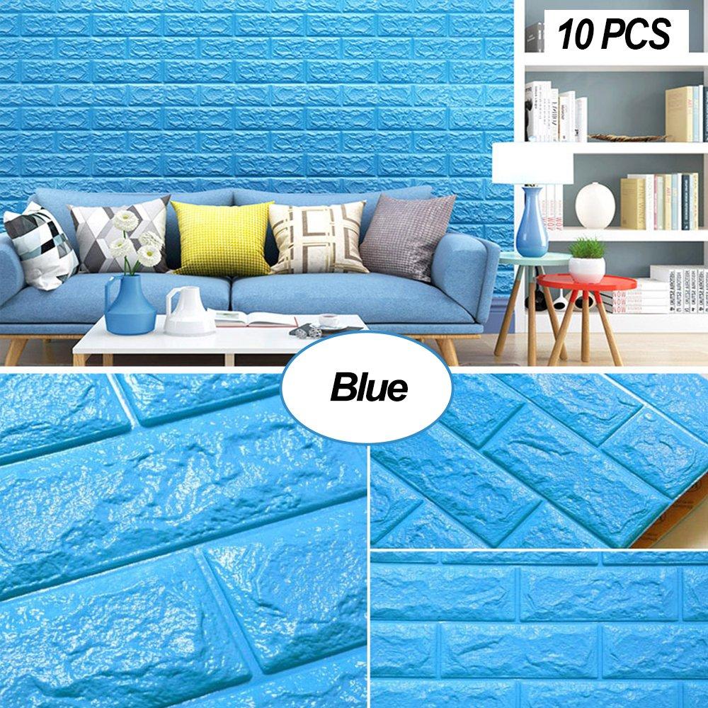 Amazon.com: Masione Foam Brick 3D Wall Panels Self-adhesive ...