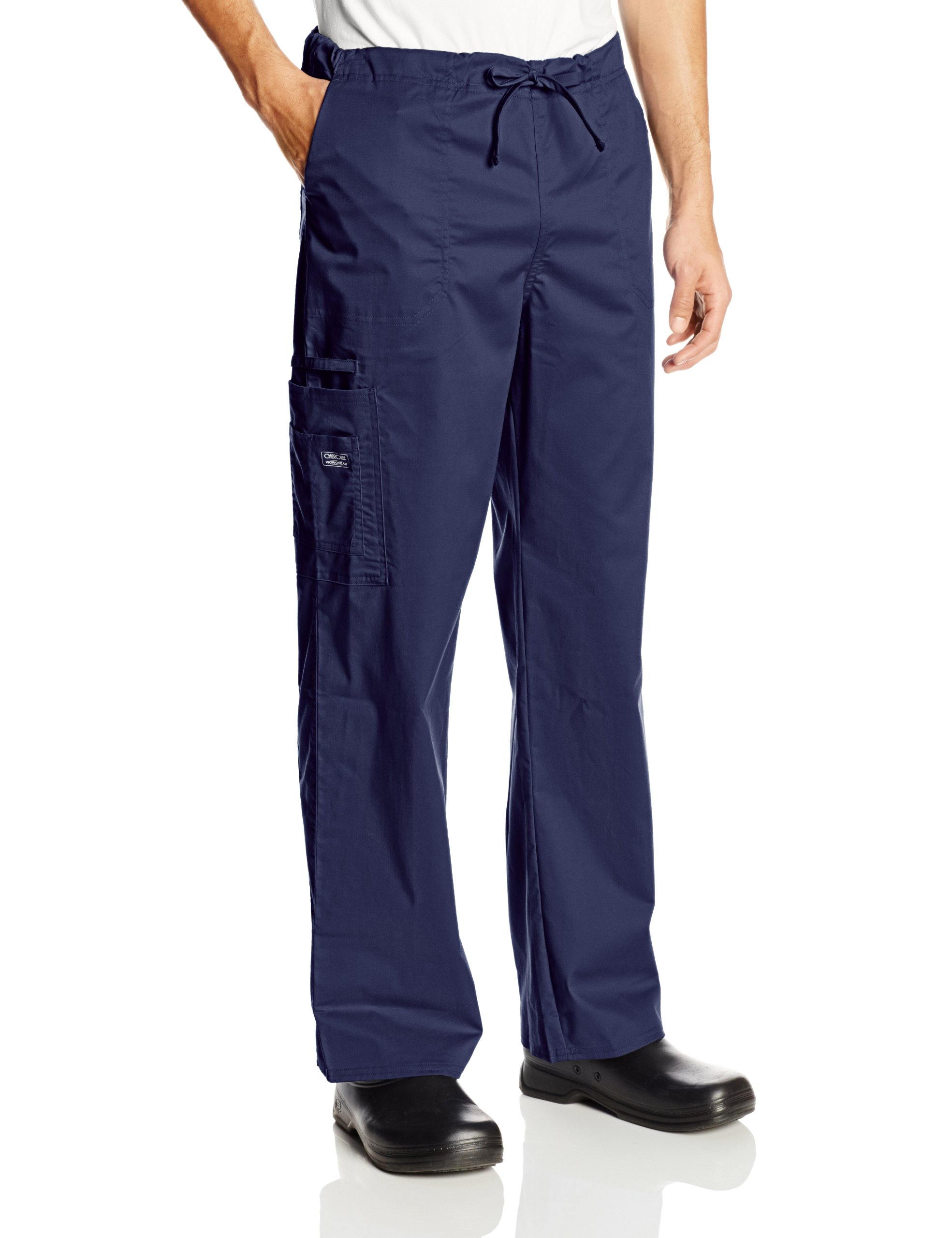 Cherokee Workwear Scrubs Unisex Stretch Cargo Pant, Navy, Small by Cherokee (Image #1)