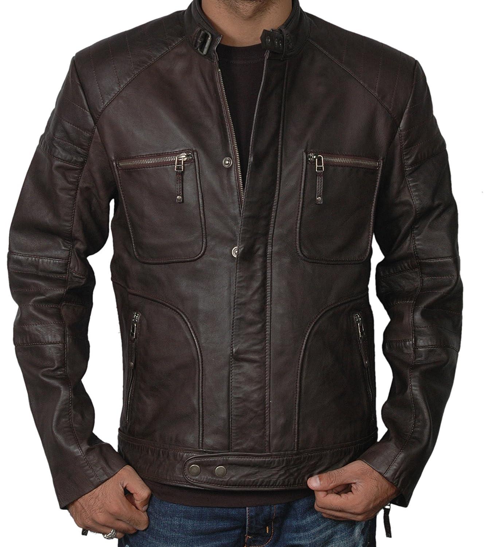 Notice Men's Genuine Leather Jacket Classic Star